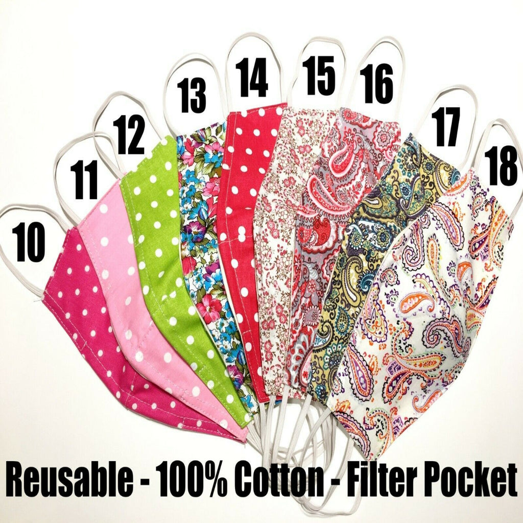 100pcs Cotton Designer Face Masks