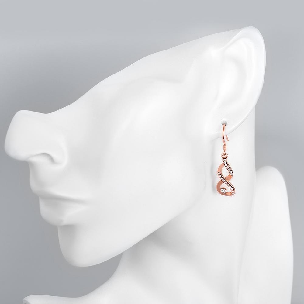 Dangling Infinity Earrings Made with Swarovski