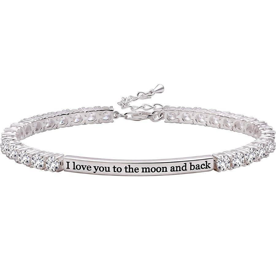 I Love you to the Moon & Back Swarovski Elements