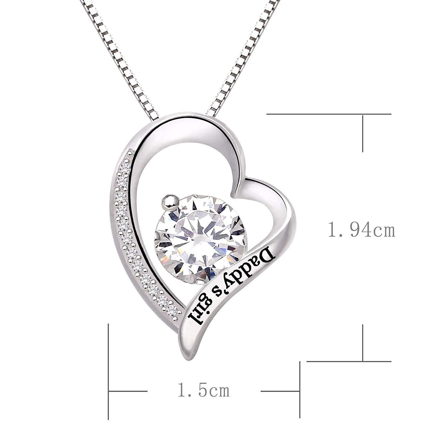 """Daddys Girl"" Heart Necklace"