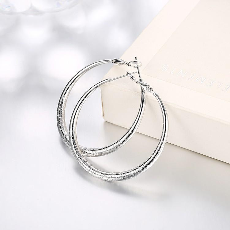Modern Glitter Layering Hoop Earrings Set in 18K