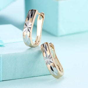 Metallic Layering Design Huggie Earrings Set in