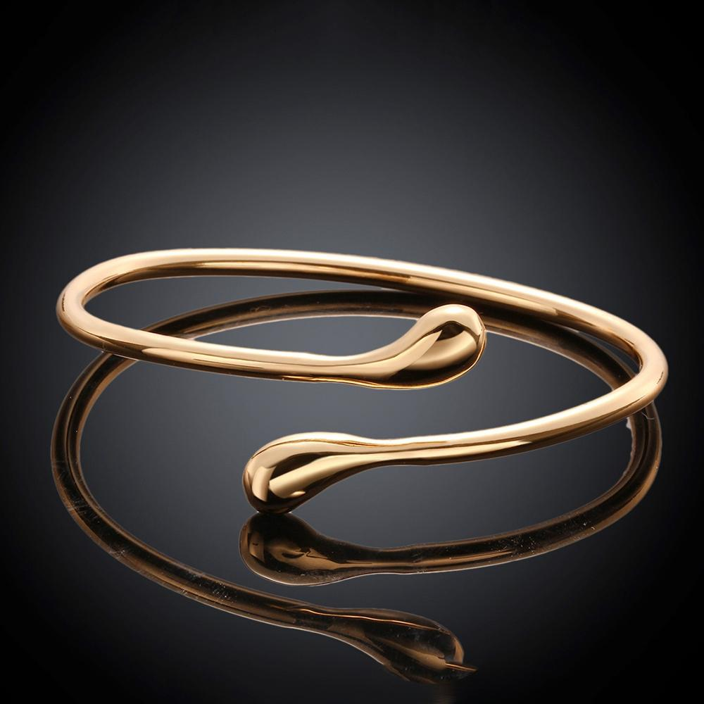 Teardrop Bangle in 14K Gold Plated
