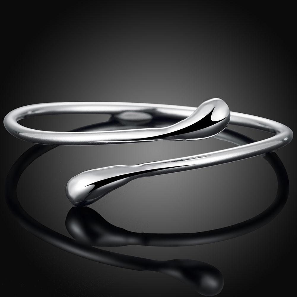 Adjustable Teardrop Bangle in Sterling Silver
