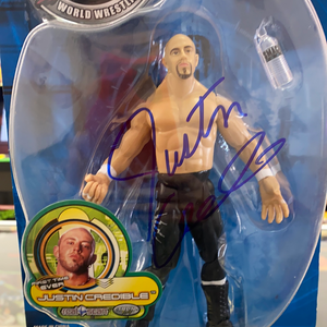 WWF Justin Credible Rulers Of The Ring Autographed Figure