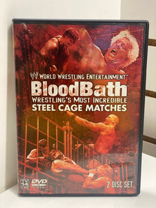 WWE Blood Bath Wrestling's Most Incredible Steel Cage Matches (2 disc set)