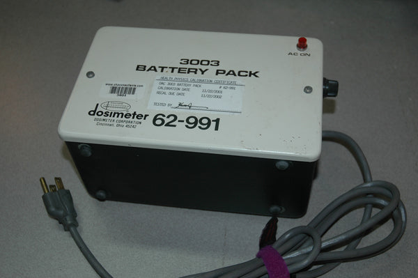 Dosimeter Corporation Model 3003 Battery Pack for Dosimeter Corp Meters - USED