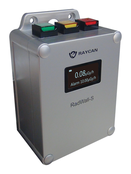 RAYCAN RADWALL-S Radiation Area Monitor with datalogging capability and wireless networking - New