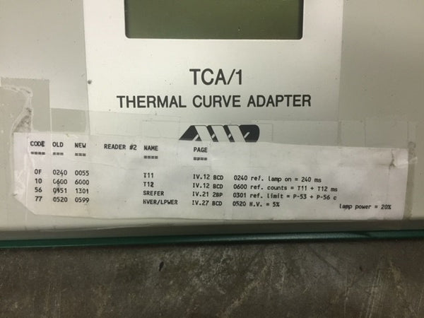 Microdesigns TCA/1 Thermal Curve Adapter for Panasonic TLD Reader