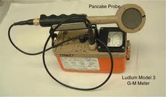 "Ludlum Model 3 with ""Pancake"" style GM probe and cable Combo - Used"