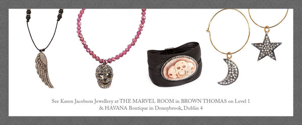 Welcome blog post showing selection of Karon Jacobson Jewellery Collection
