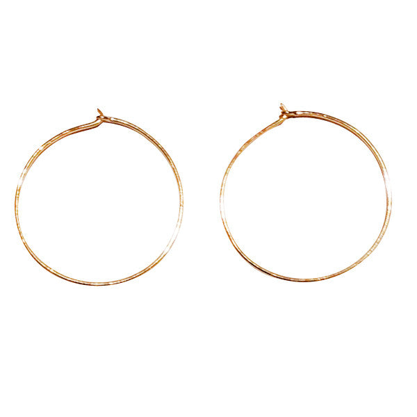 Yellow Gold Earring Hoops