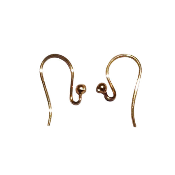 14kt Yellow Gold Shepard Hooks
