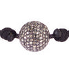 Diamond Ball on Black Bracelet
