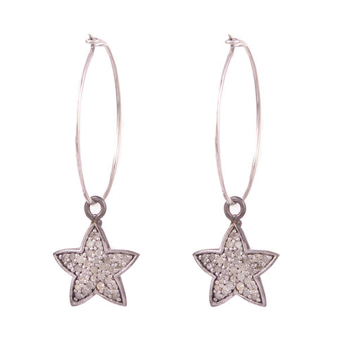 Diamond Star Earring Charms
