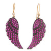 Ruby Feather & 14kt Gold Earrings - Karon Jacobson Jewellery