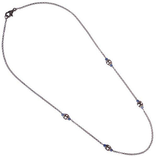 Diamond, Blue Sapphire Necklace by Karon Jacobson Jewellery