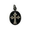 Diamond Cross & Enamel Pendant