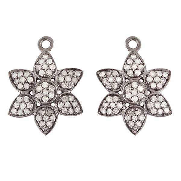 Diamond Lotus Earring Charms