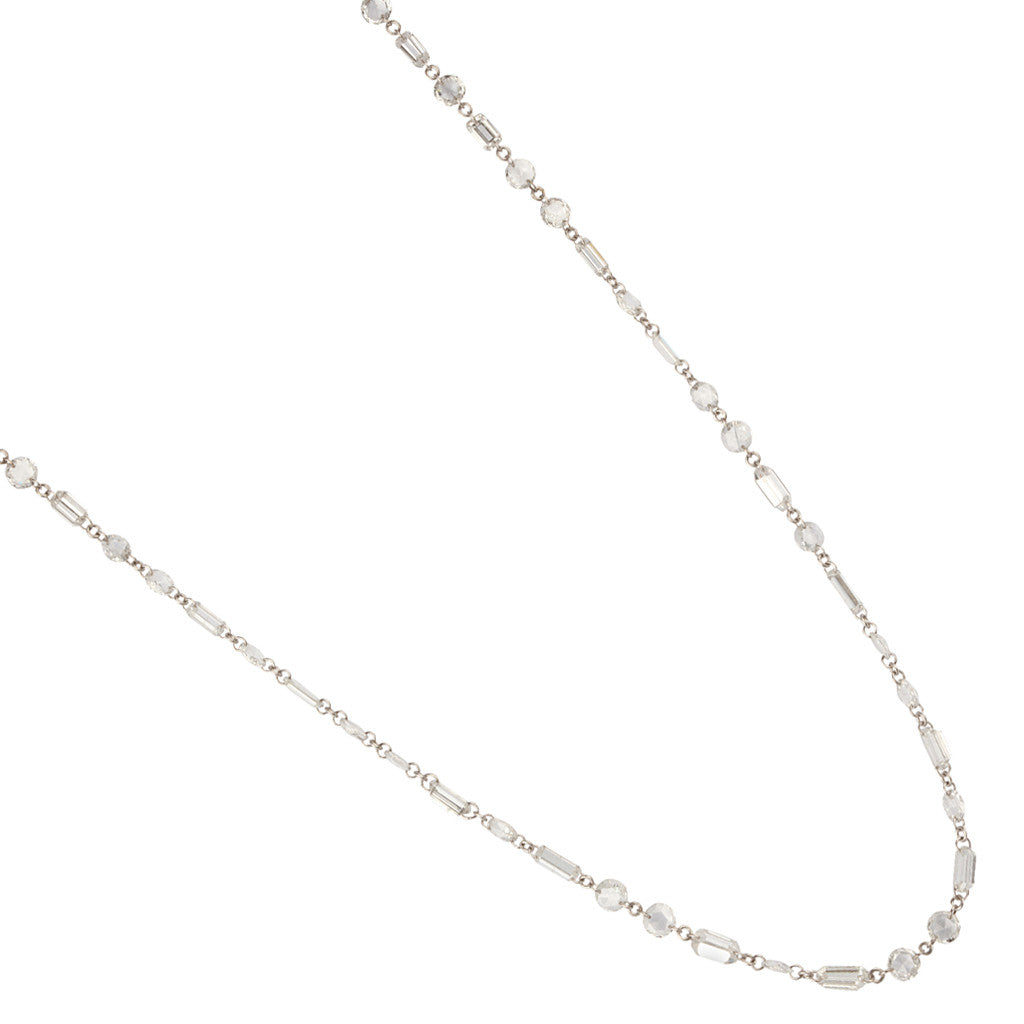Karon Jacobson Diamond Chain Necklace - Designer Jewellery - 1