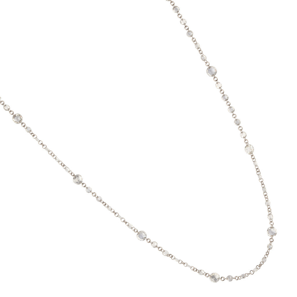 Karon Jacobson White Gold & Diamond Chain Necklace - Jewellery Designer - 1