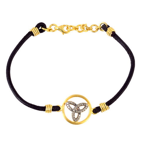 Triquetra Gold and Diamond Bracelet