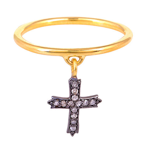 Cross Charm Ring