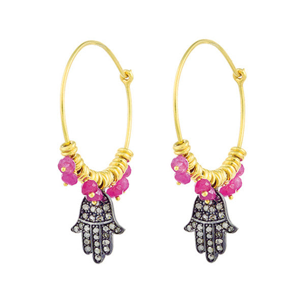 Hamsa Hoop Earrings