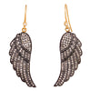 White Diamond Feather Earrings - Karon Jacobson Jewellery