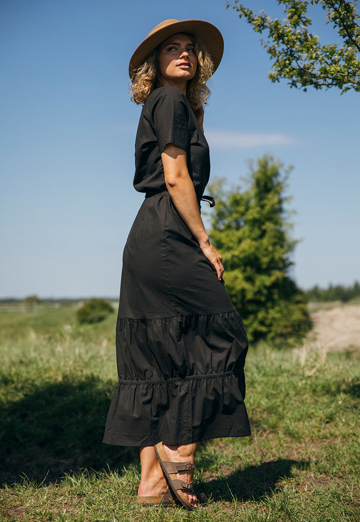 Marie Dress Natural Black