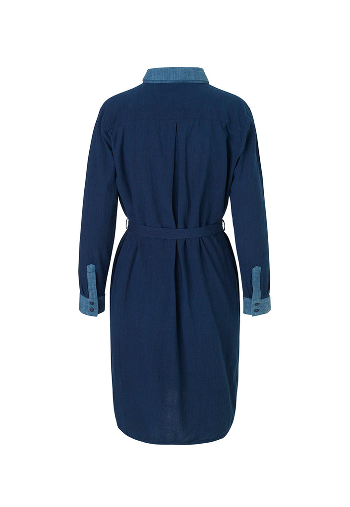Magda Dress Indigo