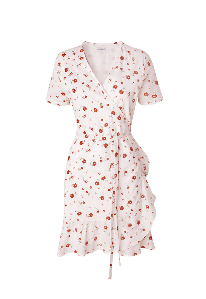 Alma Dress Vintage Floral Rose