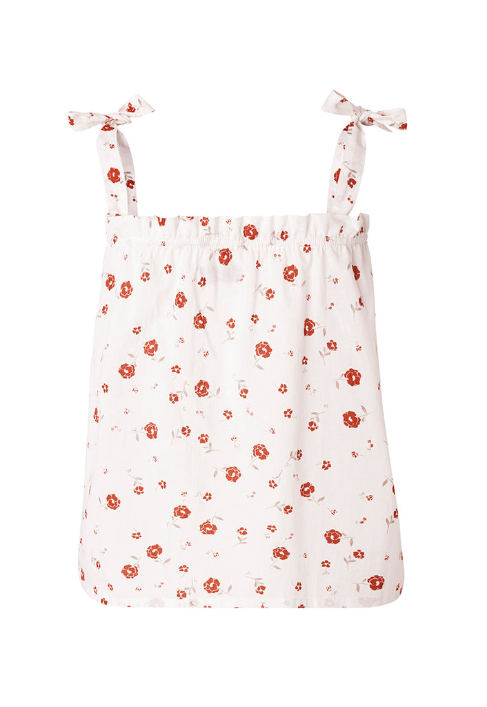 Grethe Top Vintage Floral Rose