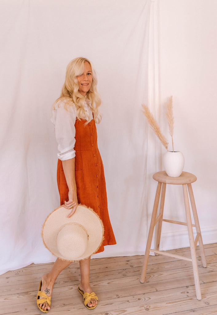 Sanne Dress Burnt Orange