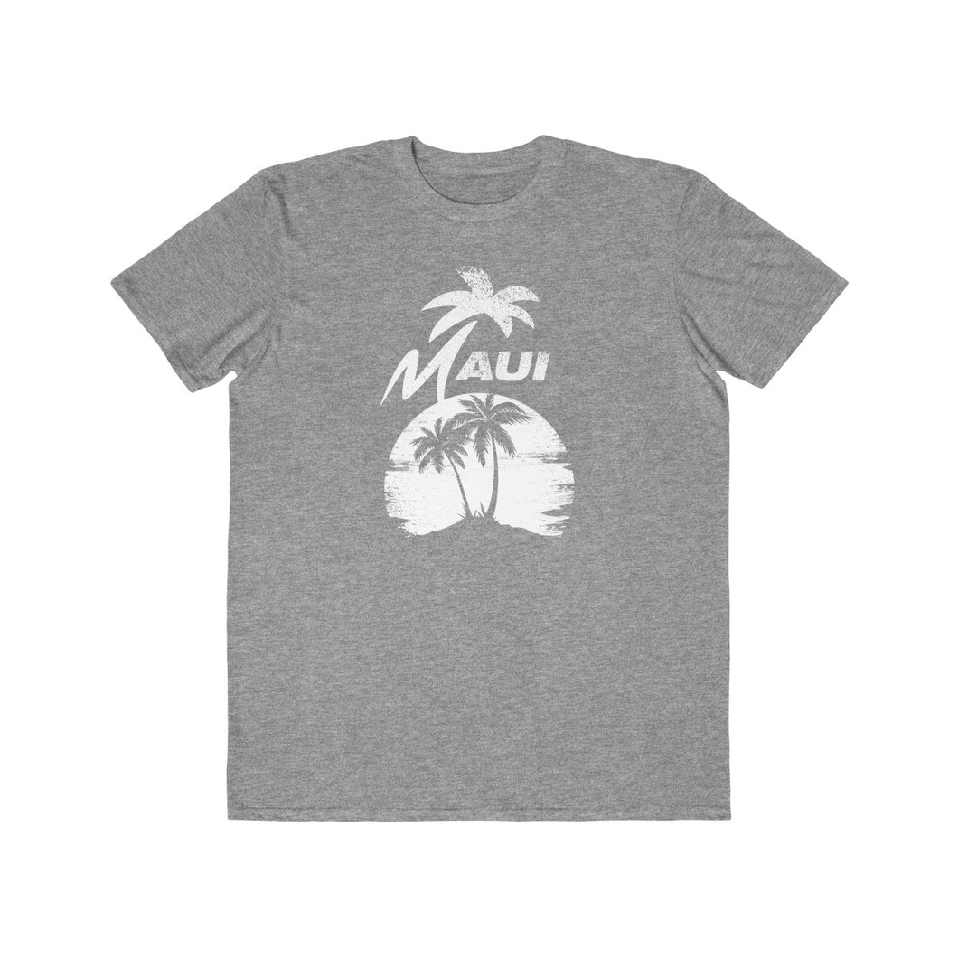 MAUI Unisex Lightweight Fashion Tee- Light Grey