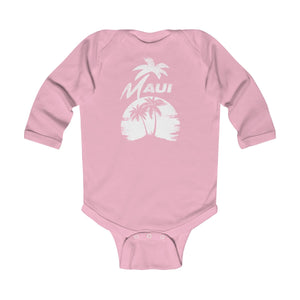 MAUI Infant Long Sleeve Bodysuit- LightPink