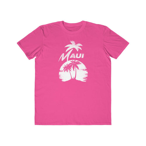 MAUI Unisex Lightweight Fashion Tee- Hot Pink