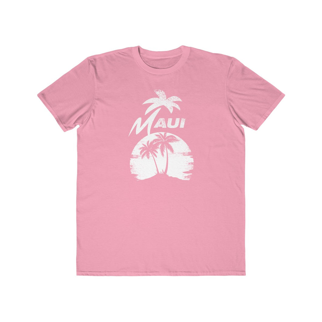 MAUI Unisex Lightweight Fashion Tee- Light Pink