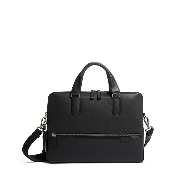 Harrison Tower Portfolio Brief Leather // Black