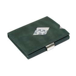 Exentri Leather Wallet - Emerald Green - Laid