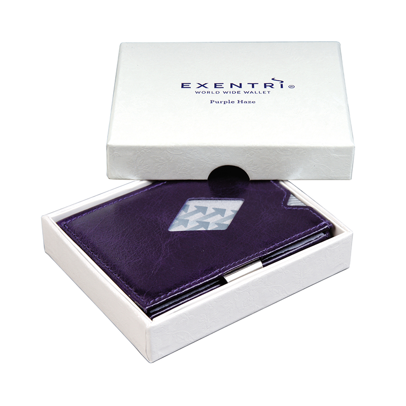 Exentri Leather Wallet - Purple Haze - Box