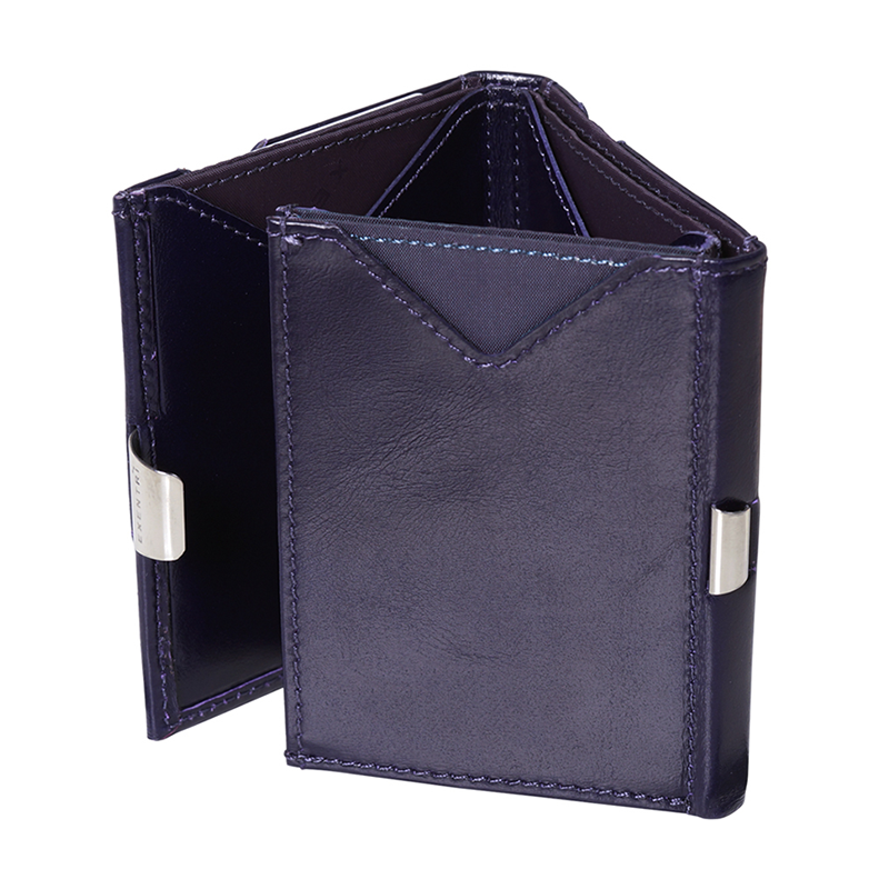 Exentri Leather Wallet - Purple Haze - Fold
