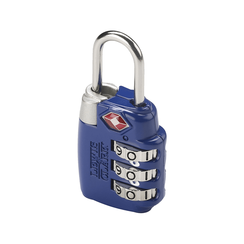 Large Dial Combination Lock // Blue