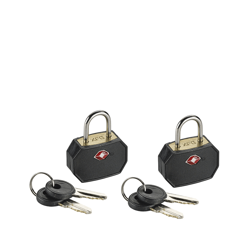 Mini Padlocks, 2 Pack Black