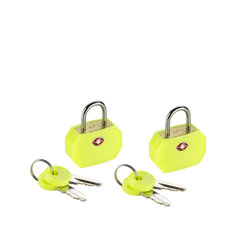 Mini Padlocks, 2 Pack Yellow