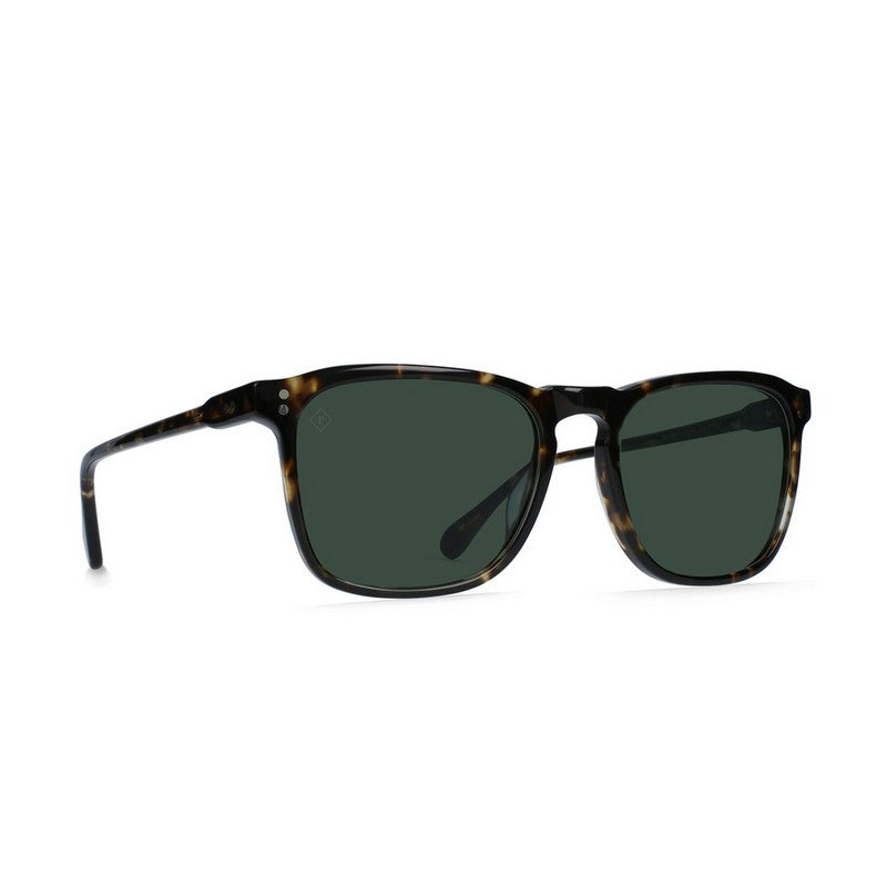 Raen Wiley Men's Square Sunglass - Brindle Tortoise / Green Polarized