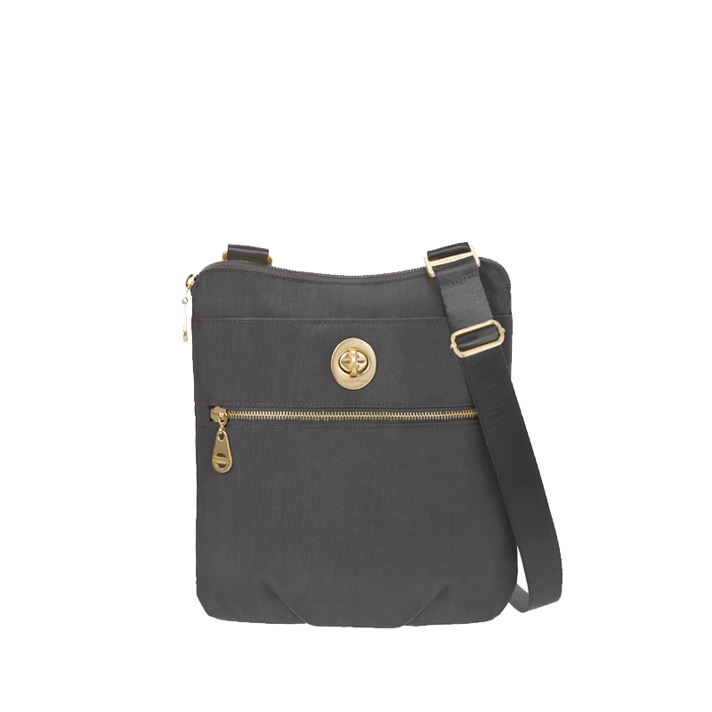 Baggallini Gold Hanover Crossbody // Charcoal