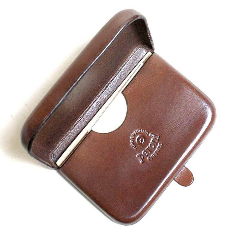 Peroni Firenze Leather Card Case // Burgundy