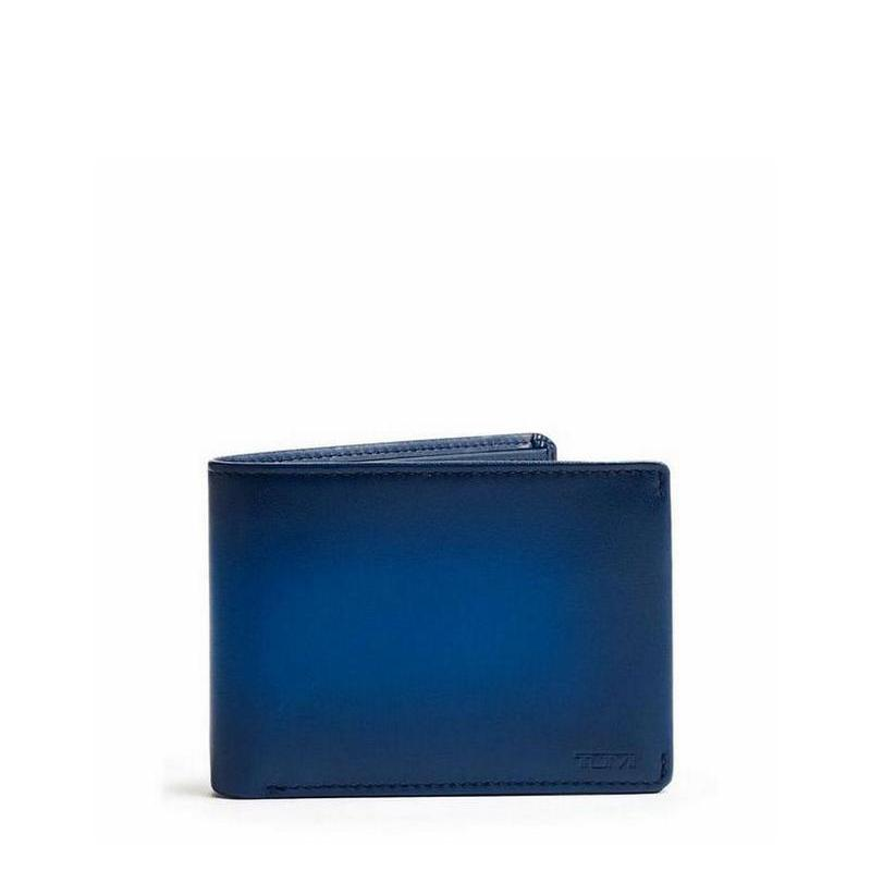 Nassau  ID Lock™ Double Billfold // Blue Burnished