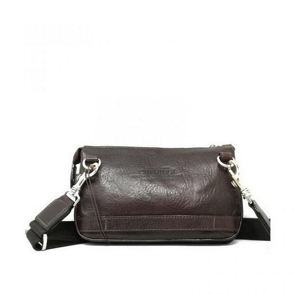 Chiarugi Firenze Leather Fanny Pack - Man Clutch // Brown